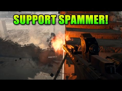 Loadout Support Spammer MG15 & Crossbow   Battlefield 1 Gameplay
