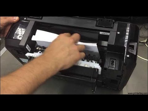 Fix inkjet printer paper feed problems  feeder roller cleaning remove jammed paper  Canon Pixma E510