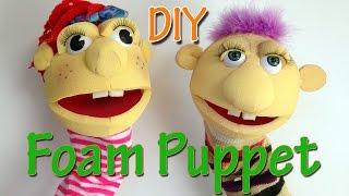 How to make a Foam Puppet - Ana   DIY Crafts.