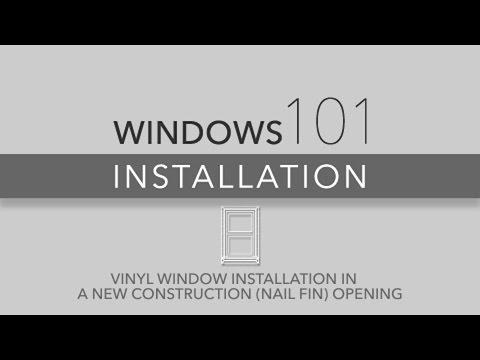 Atrium Windows 101 Vinyl Window Installation for New Construction (Nail Fin)