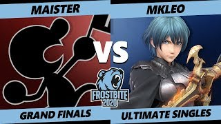 Frostbite 2020 SSBU Grand Finals - SSG  Maister (G&W, Pichu) Vs MkLeo (Joker, Byleth) Smash Ultimate