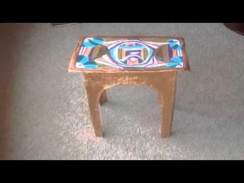 Paper Mache Project   Amazon Cardboard Box Turned Table