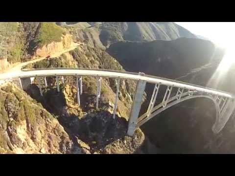 Bixby Bridge - Big Sur, California - Aerial GoPro HD