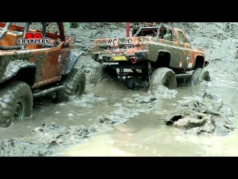 Extreme Mudding! Axial SCX10 Jeep Wrangler Wraith Tamiya Clod Buster truck RC offroad adventures