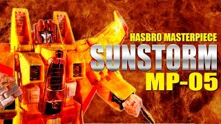 Hasbro MP-05 Sunstorm Masterpiece Seeker Transformers robot figure review