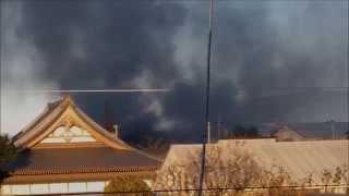 11月20日 早朝 アパートで、ガス漏れによる、火災が発生しました。
