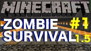 Minecraft 1.5.2 - Zombies Survival Map Part 1 - NO MODS!