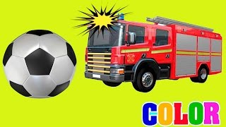 Learn Colors with Soccer Balls for Children,Toddlers,Kids - Colors for Kids to Learn w Police Cars