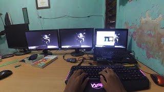 Cara Setting dan Konfirgurasi 1 Laptop menggunakan 2  LCD