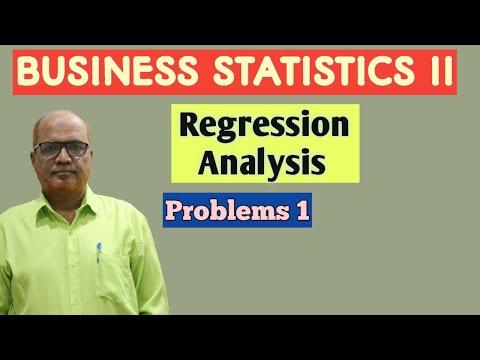 Business Statistics II I Regression Analysis I Problems I Part 1 I Khans Commerce Tutorial I