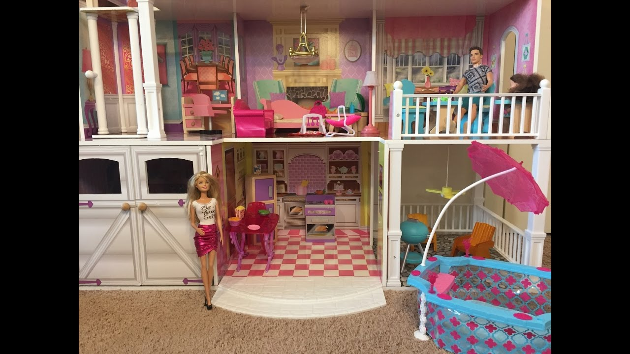 barbie 39 s best house ever youtube. Black Bedroom Furniture Sets. Home Design Ideas