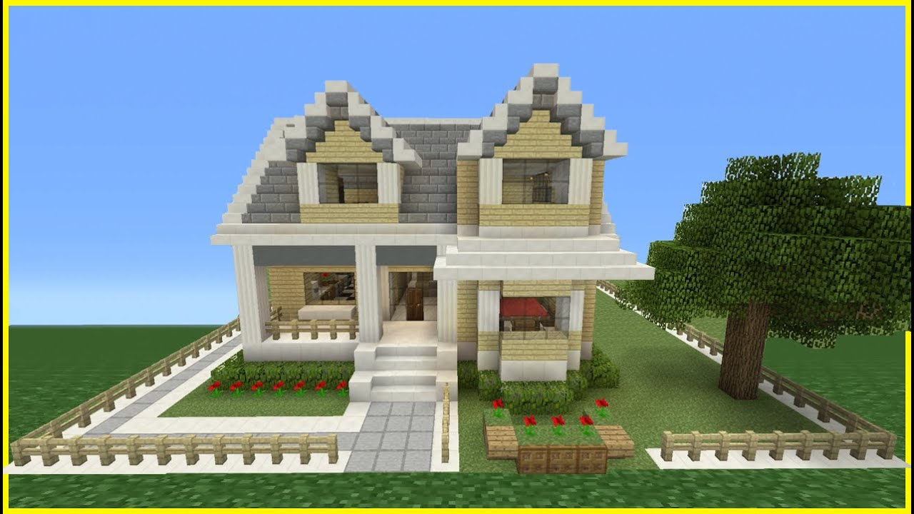 Minecraft Tutorial How To Make A Suburban House 9 Youtube