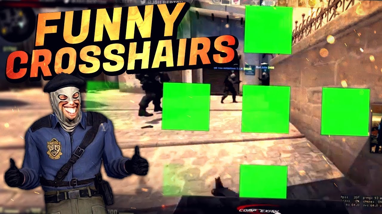 CS:GO - WHEN PROS PLAY WITH FUNNY CROSSHAIRS! ft  S1mple,Hiko & MORE!