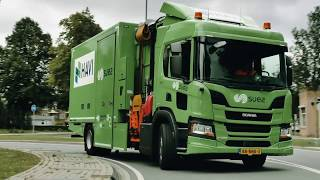 Scania hybrid P-series truck delivers for McDonald's in the Netherlands