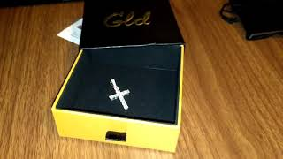 GLDShop Diamond Cross Pendant - Unboxing