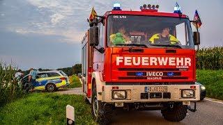 IRRFAHRT - [BMW rast durch MAISFELD] - FEUERWEHR im EINSATZ | FAHRER VERLETZT