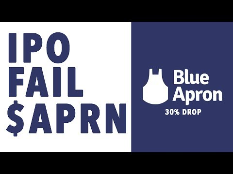 IPO FAIL $APRN Blue Apron Stock Crashing $SNAP