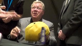 WILLIAM SHATNER signs Starfleet Hat for The Venus Project @ Destination 3 Star Trek event, London
