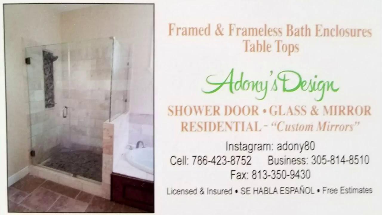 Frameless Shower Doors In Tampa Fl Puertas De Baos De Cristales