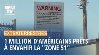 """1 million de personnes prêtes à envahir la """"zone 51"""" à la recherche d'extraterrestres"""