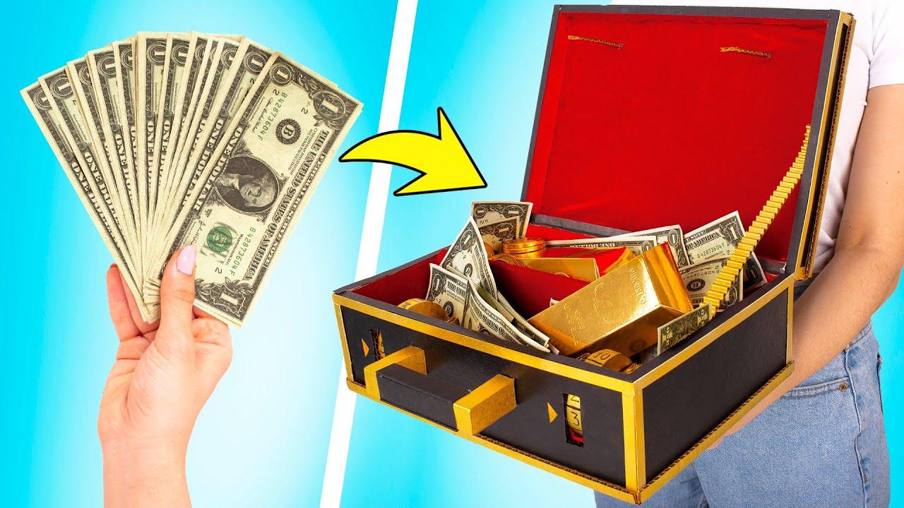 Cómo hacer un maletín de cartón para tus ahorros 🤑