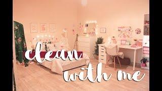 روتيني في تنظيف غرفتي ! نظفي معي غرفتي ♥️ | Clean With Me