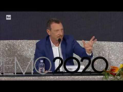 Sanremo 2020 - Amadeus su Bugo e Morgan 08/02/2020
