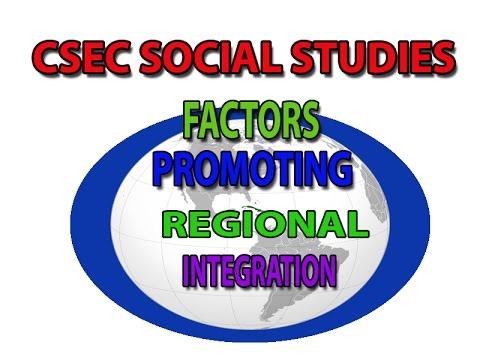 Factors Promoting Regional Integration