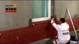 Монтаж фасадной клинкерной плитки под кирпич(Видео любезно предоставлено компаниями King Klinker и Quick-Mix., 2014-03-24T12:40:50.000Z)