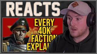 Royal Marine Reacts To Warhammer 40k Every Faction Explained | Part 1