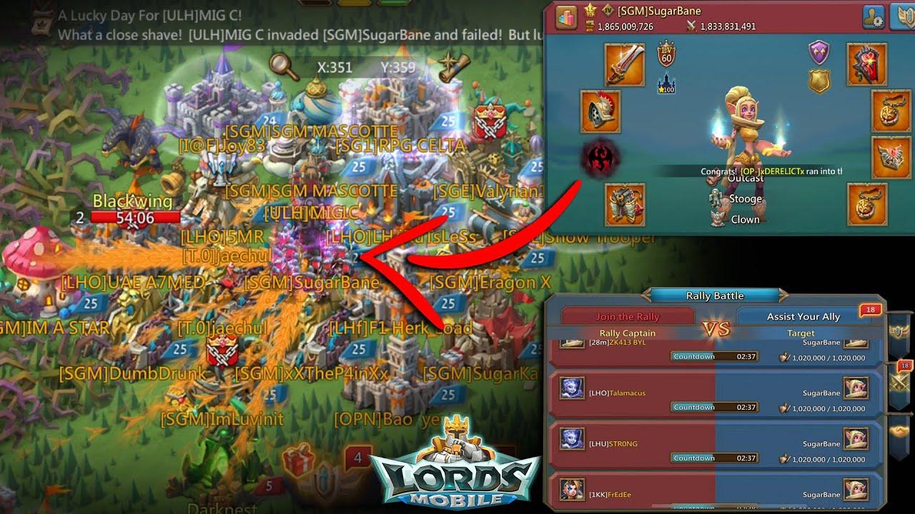 SUGARBANE VS. 18 LH Rallies | Kingdom 654 - Lords Mobile