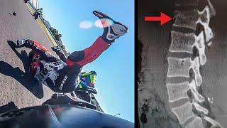 HOW DID I CRASH AND BROKE MY FOOT AND VERTEBRA? - Misano race crash analysis