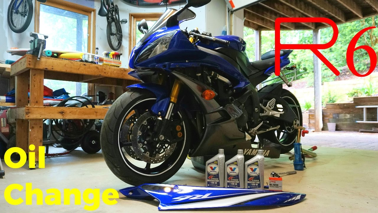 06 16 yamaha yzf r6 first oil change diy maintenance youtube rh youtube com 2008 Yamaha R6 2012 yamaha r6 service manual