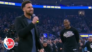 Download The Golden State Warriors welcome back Andre Iguodala | NBA on ESPN Mp3 and Videos