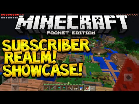 MCPE 0.15.0 REALMS SHOWCASE!! - Minecraft PE Subscriber Realm World Showcase (Pocket Edition)
