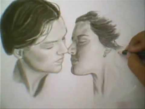 Retrato a lapiz de Leonardo Dicaprio y kate Winslet del ... Kate Winslet Dicaprio