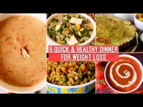 5-healthy-dinner-recipes-|-quick-&-easy-indian-vegetarian-dinner-idea-|-weight-loss-|-hindi