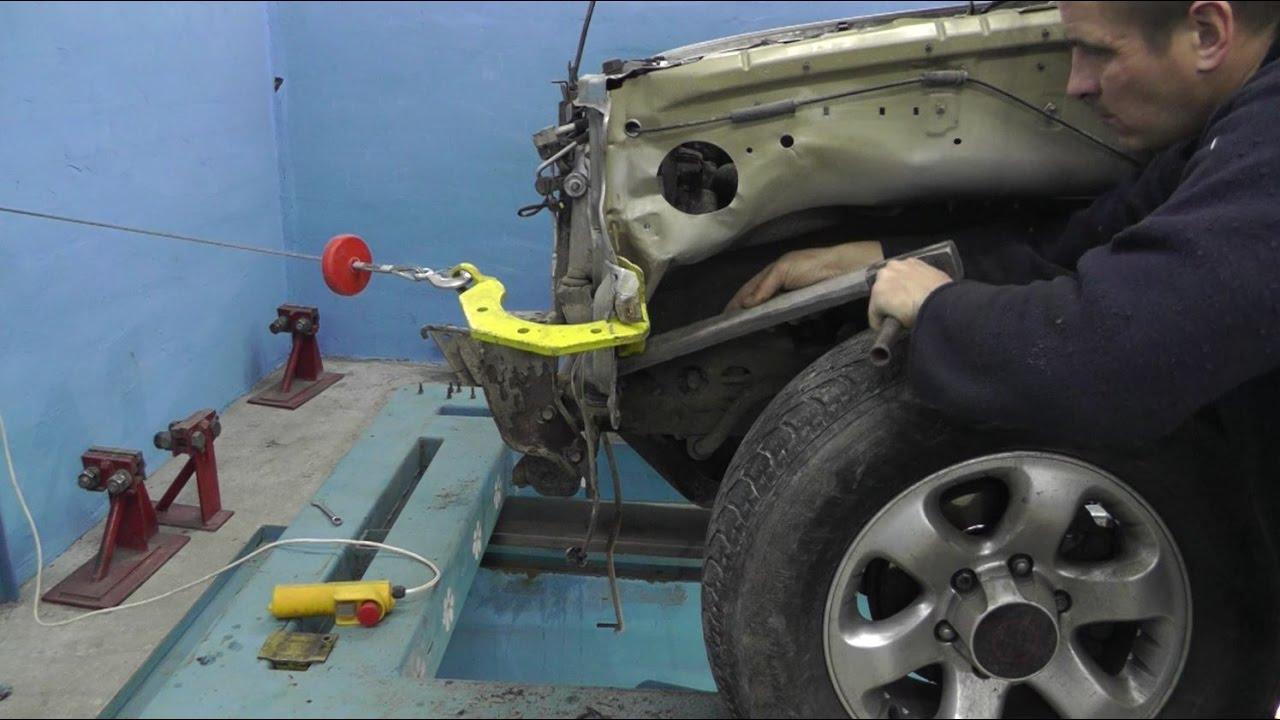 Opel Frontera.  Вытяжка кузова ЭЛЕКТРОЛЕБЕДКОЙ.