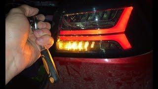 Установка LED фонарей в стиле AUDI на LANCER X | ПЕРЕЗАГРУЗКА