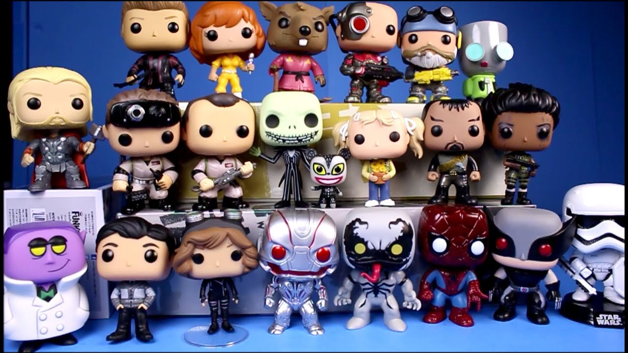 my funko pop vinyl figure collection 2016 21 figures unboxing