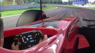RACING IN A $5000 DOLLAR F1 RACE SIMULATOR!! EPIC EXPERIENCE