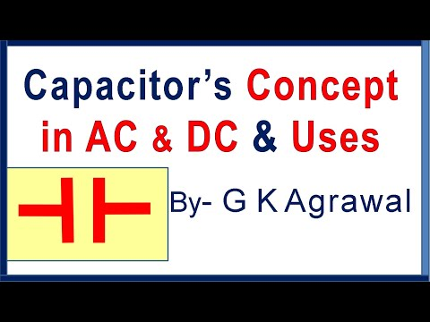 Capacitor working in AC, DC circuits; & its use