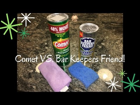 BAR KEEPERS FRIEND IS AMAZING! | How To Clean Burner Plates