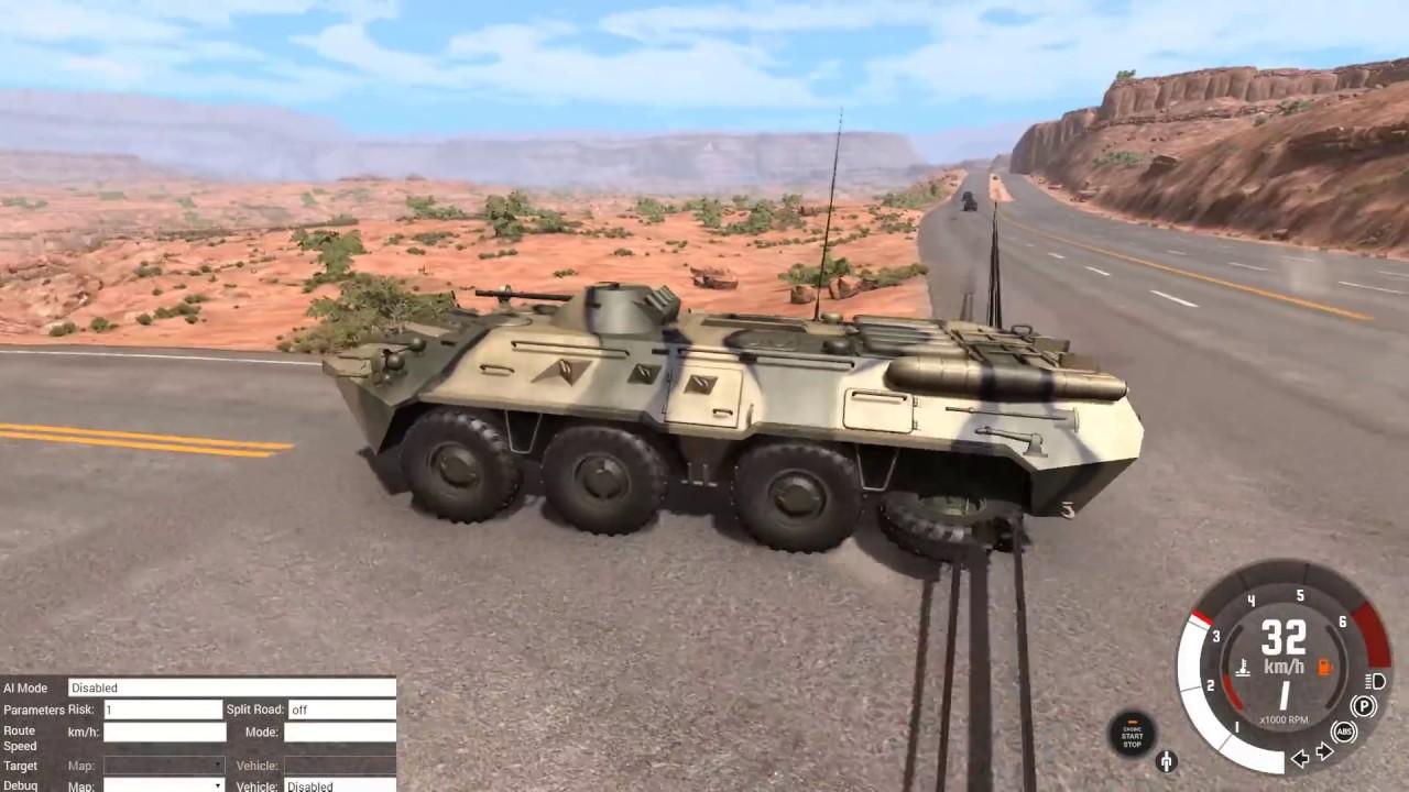 Угнали бтр в армии в beamng drive! [рп погони]