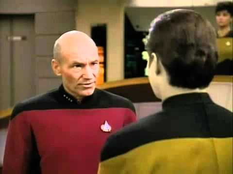 Star Trek - The Next Generation. Banned Clip from 'The High Ground'