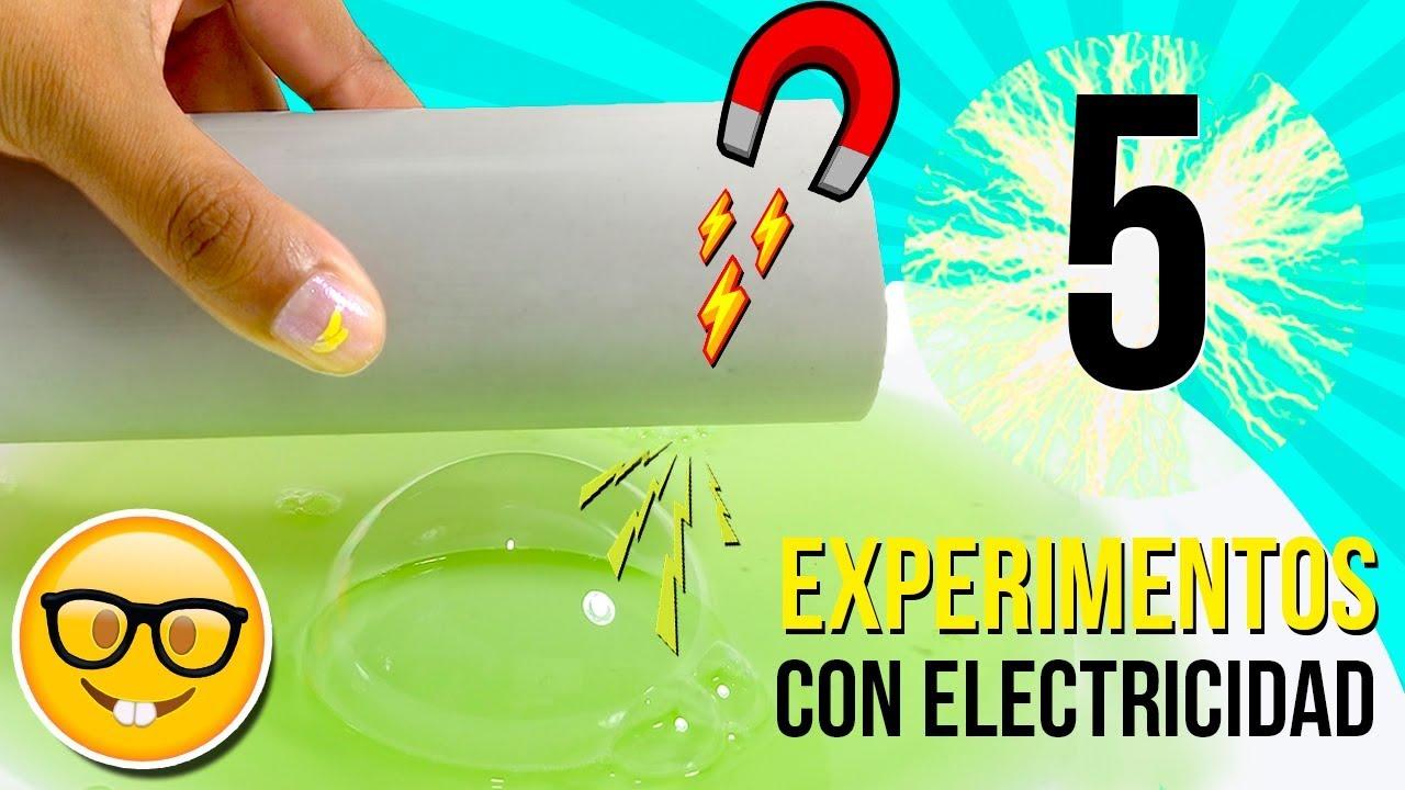 5 Increibles Experimentos Caseros Con Electricidad Electrostática Experimentos Fáciles Para Niños Youtube