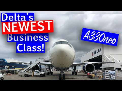 Onboard Delta Air Line's BRAND NEW A330neo Delta One