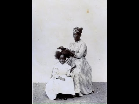 African American Antebellum Enslaved & Free Hair Care and Wrapping/Threading Tutorial pt.1