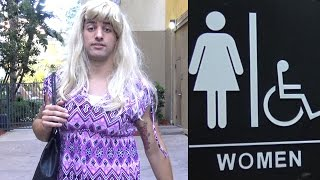 Transgender in Women's Bathroom (Social Experiment)
