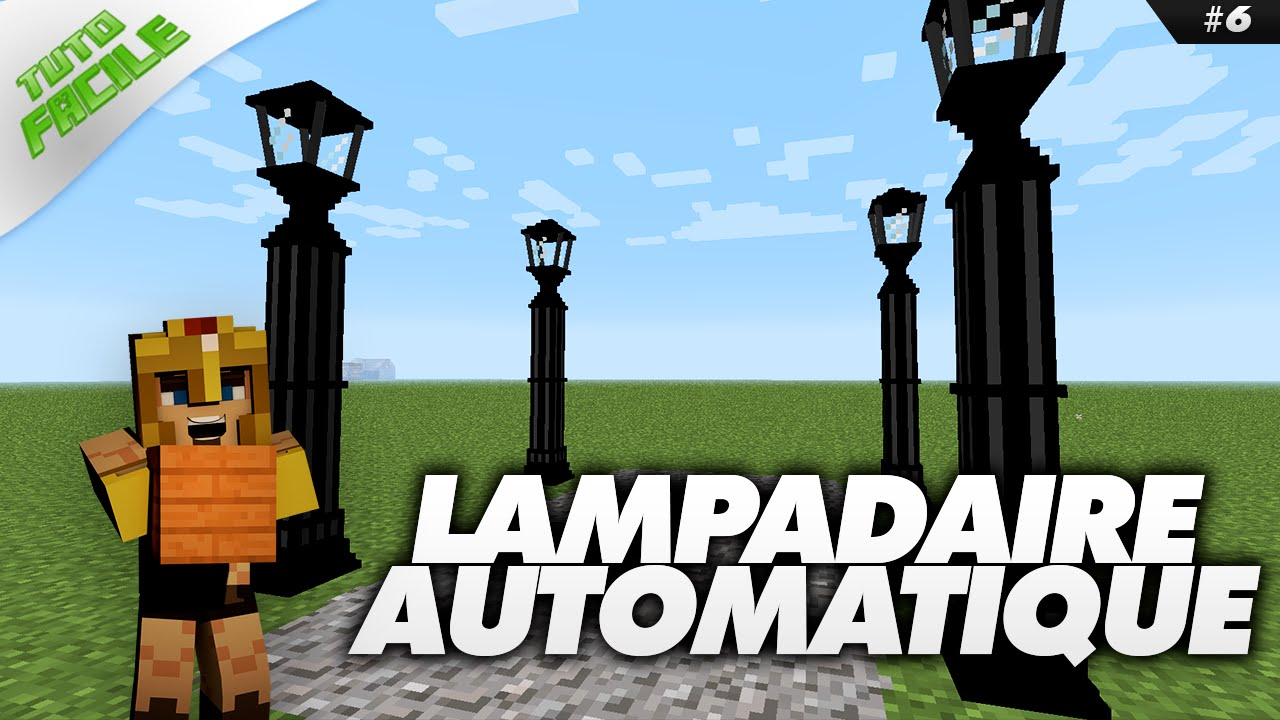 lampadaire automatique minecraft tuto facile 6 youtube - Lampadaire Minecraft
